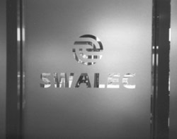 frosted glass office door. CLIENT -: Swalec; LOCATION Brecon; MATERIALS Frosted Glass Effect Self Adhesive Vinyl On A Paneled Door. Office Door