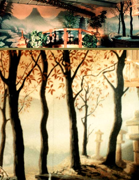 Oriental wall scenery painters murals brighton sussex for Chinese wall mural