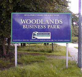 Aluminium business park entrance sign