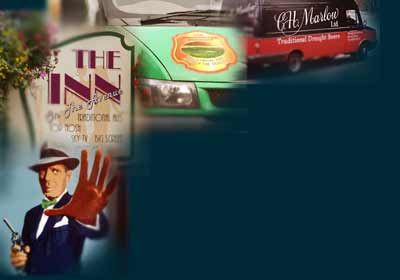 life size mural Bogart, art deco style signs, self adhesive vehicle livery and traditional signwritten van